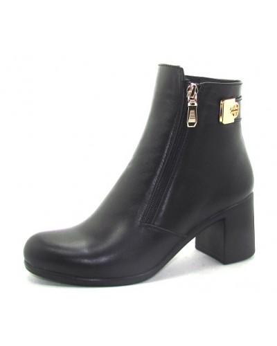 Женские ботинки Haries 312/3 кожа черный