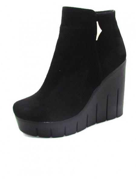 Женские ботинки Haries 0230Т замш черный