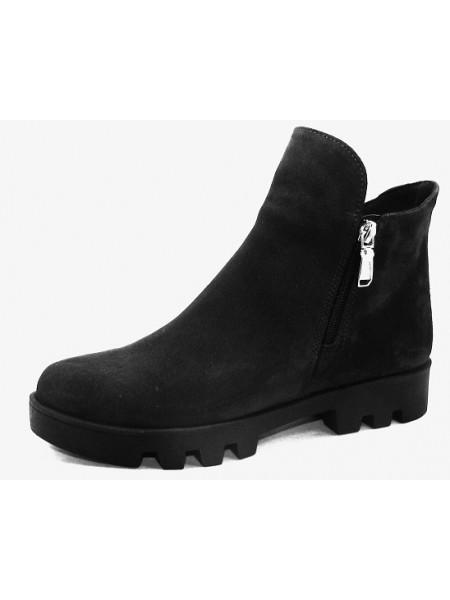 Женские ботинки Haries 222 замш черный