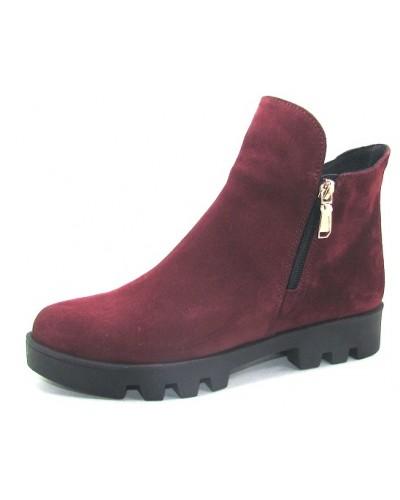 Женские ботинки Haries 222 замш бордо