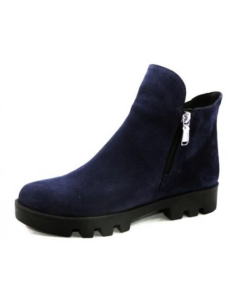 Женские ботинки Haries 222 замш синий