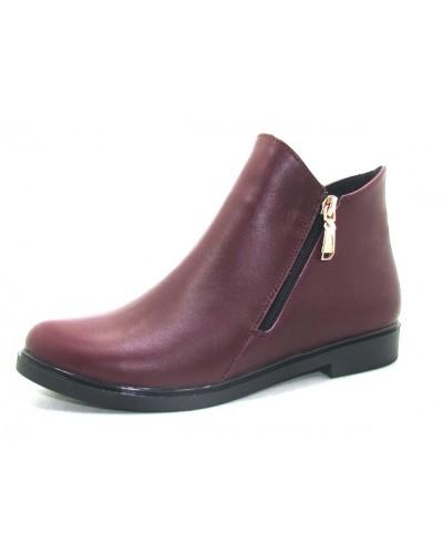 Женские ботинки Haries 214 кожа бордо