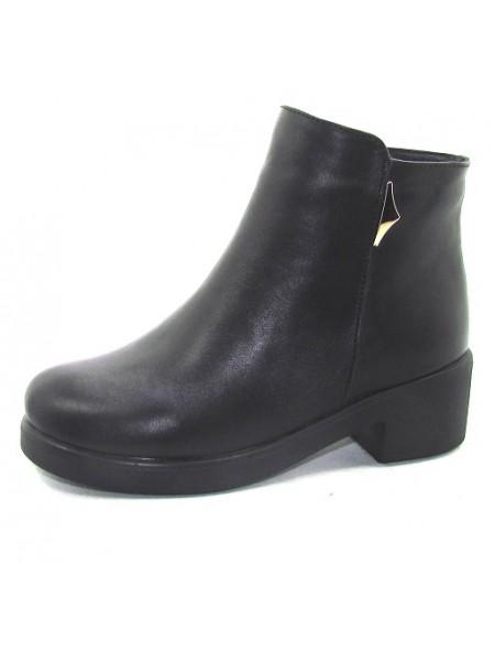 Женские ботинки Haries 220/3 кожа черный