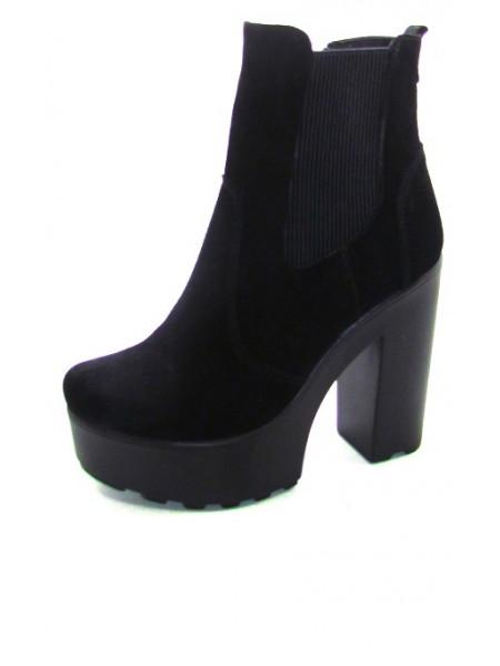 Женские ботинки Haries 088 замш черный