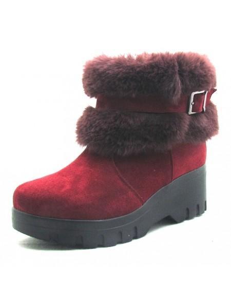 Женские ботинки Haries 213 замш бордо