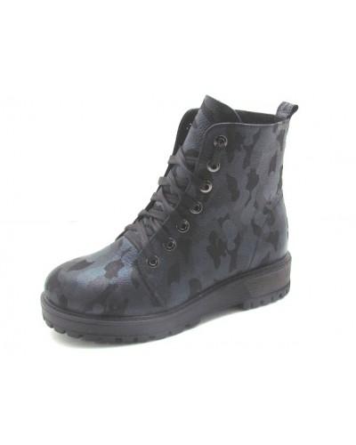 Женские ботинки Haries 520 камуфляж синий
