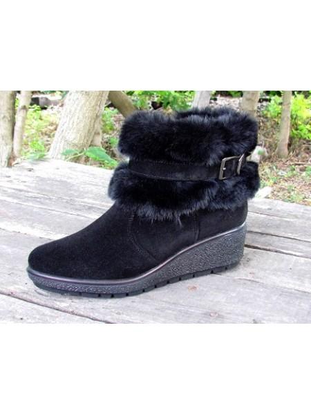 Женские ботинки Haries 213Т замш черный