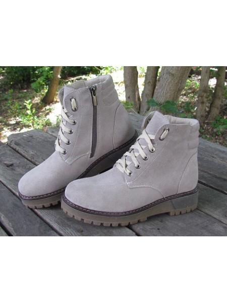 Женские ботинки Haries 500 замш песок