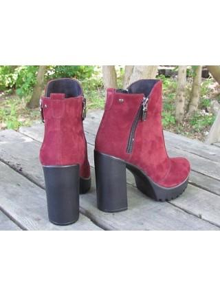 Женские ботинки Haries 787/4 замш бордо