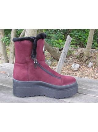 Женские ботинки Haries 641 замш бордо