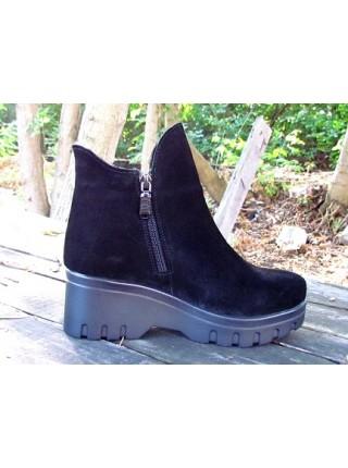 Женские ботинки Haries 222/3 замш черный