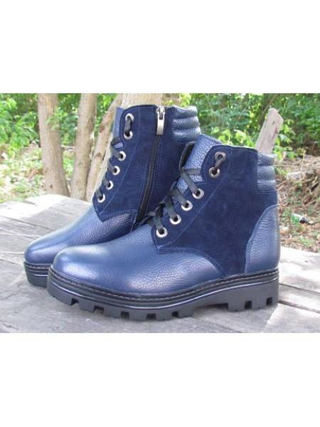 Женские ботинки Haries 500 флатар+замш черный