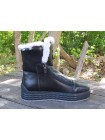 Женские ботинки Haries 640 кожа черный