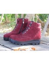 Женские ботинки Haries 500 замш бордо
