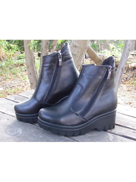 Женские ботинки Haries 514/3 кожа черный