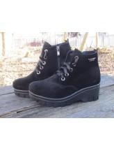 Женские ботинки Haries 225-3 замш черный