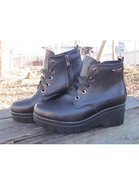Женские ботинки Haries 225-3 кожа черный