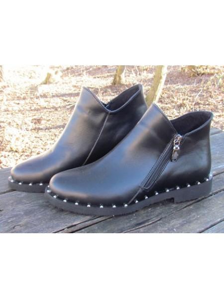 Женские ботинки Haries 214ромб кожа черный