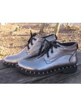 Женские ботинки Haries 215ромб серебро