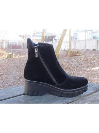 Женские ботинки Haries 514-3 замш черный