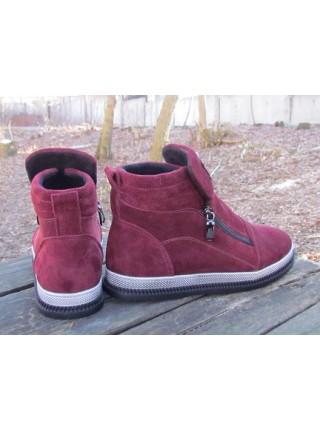 Женские ботинки Haries 340 замш бордо