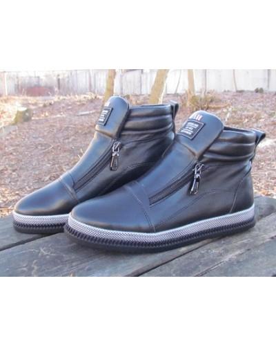 Женские ботинки Haries 340 кожа черный