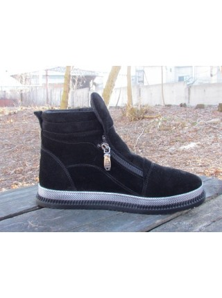 Женские ботинки Haries 340 замш черный