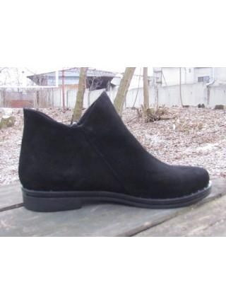 Женские ботинки Haries 214гвозди замш черный