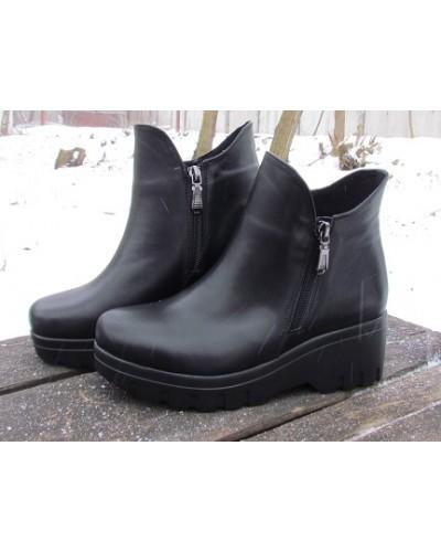 Женские ботинки Haries 222/3 кожа черный