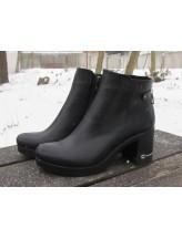 Женские ботинки Haries 507 кожа черный