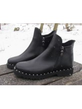 Женские ботинки Haries 222ромб кожа черный