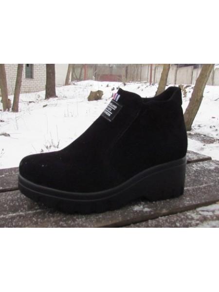 Женские ботинки Haries 360/3 замш черный
