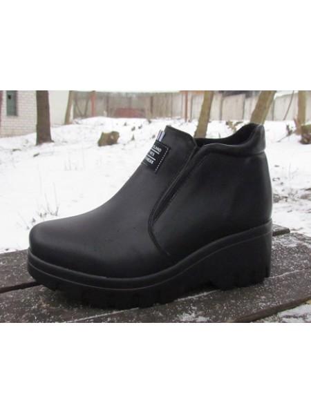 Женские ботинки Haries 360/3 кожа черный