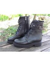 Женские ботинки Haries 555 флатар черный перламутр