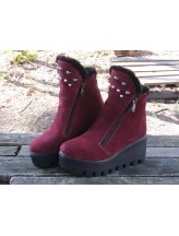Женские ботинки Haries 637/1 замш бордо