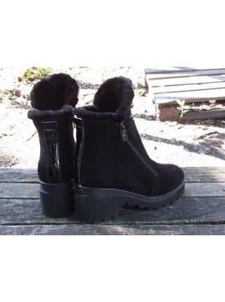 Женские ботинки Haries 637/1К замш черный