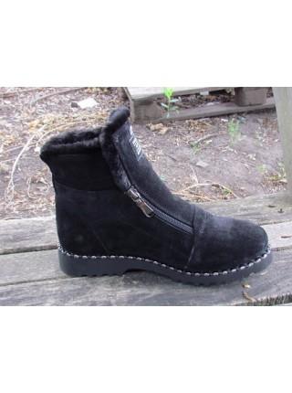 Женские ботинки Haries 340гв замш черный