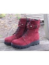 Женские ботинки Haries 555 замш бордо