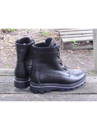 Женские ботинки Haries 535 кожа черный