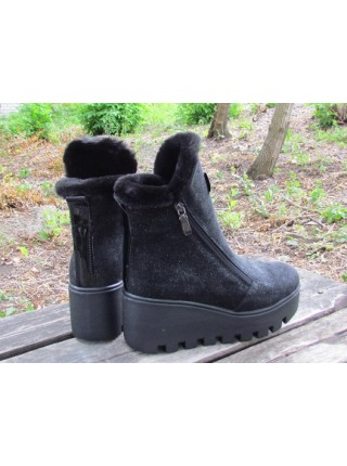 Женские ботинки Haries 637/1 пропитка черный