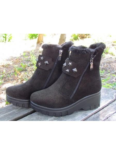 Женские ботинки Haries 514/2 пропитка коричневая