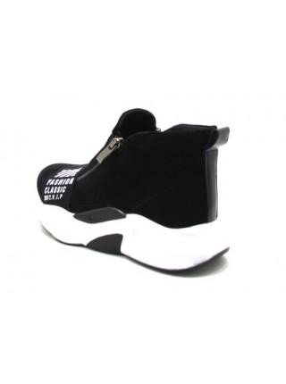 Женские ботинки Haries 238БП замш черный