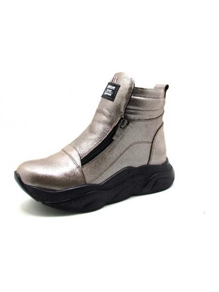 Женские ботинки Haries 340ГП кофе перламутр