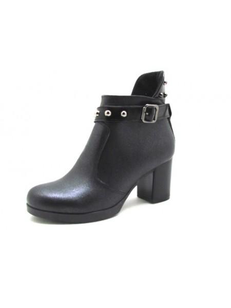 Женские ботинки Haries 617/1 кожа черный