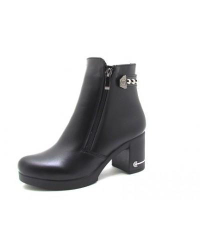 Женские ботинки Haries 312/5н кожа черный