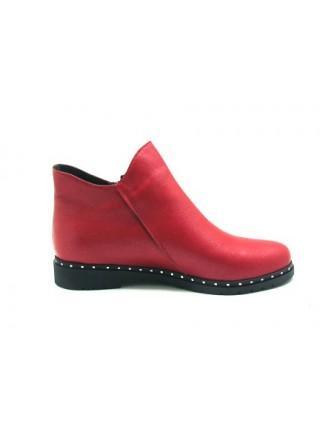 Женские ботинки Haries 214гв красный перламутр