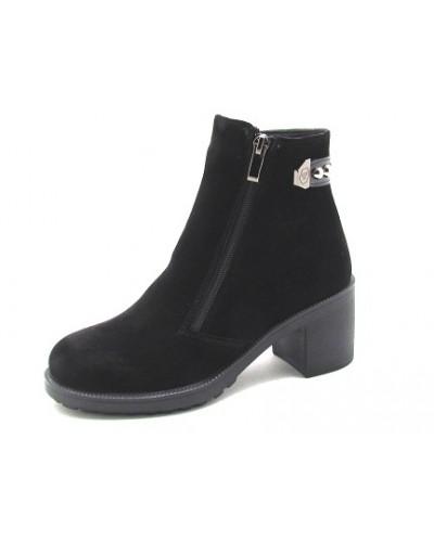 Женские ботинки Haries 312/4 замш черный
