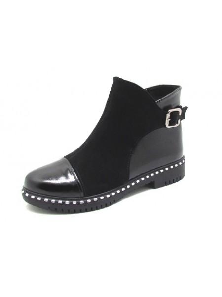 Женские ботинки Haries 245 замш черный