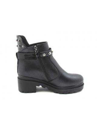 Женские ботинки Haries 617К черный перламутр