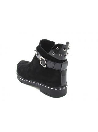 Женские ботинки Haries 617 замш черный